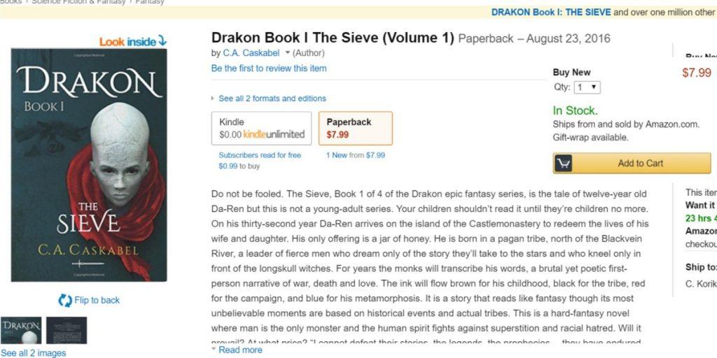 Drakon I in paperback